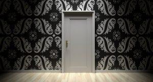 door, closed, entrance